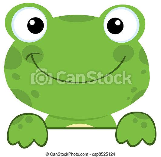 板, 印, 上に, カエル, 微笑 - csp8525124