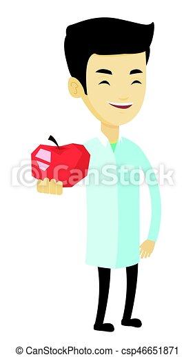 栄養学者, 新たに, 提供, 赤, ap...