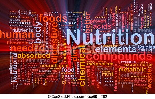 栄養, 白熱, 概念, 健康, 背景 - csp6811782