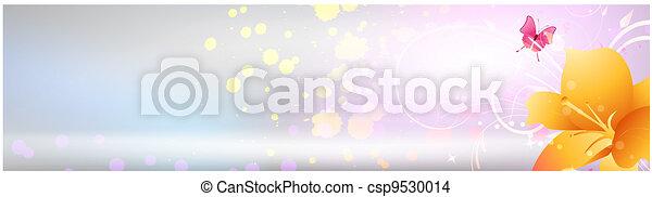 桃紅色 花, 百合花, 背景 - csp9530014