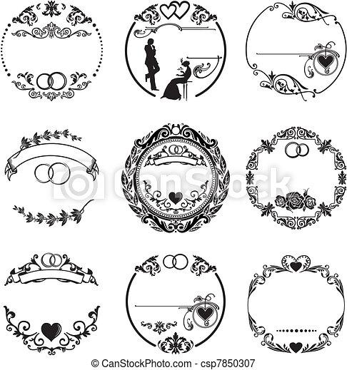 框架, 戒指, 輪, 婚禮 - csp7850307