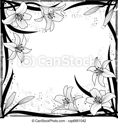 框架, 百合花 - csp6661042