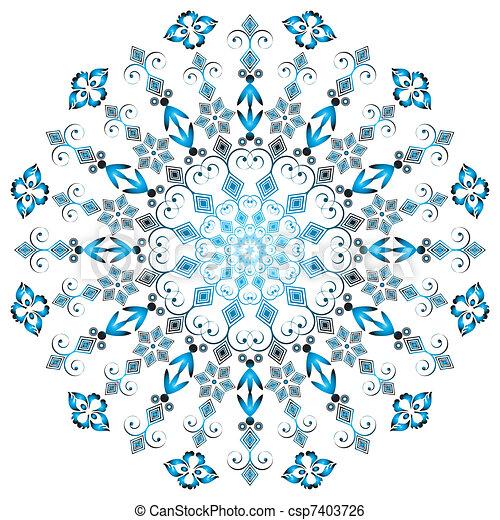 框架, 蔓藤花紋, 輪 - csp7403726