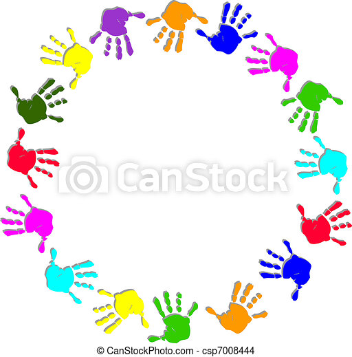 框架, 輪, 鮮艷, 手 - csp7008444