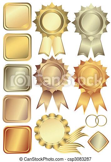 框架, 集合, 銀, 青銅, 金 - csp3083287