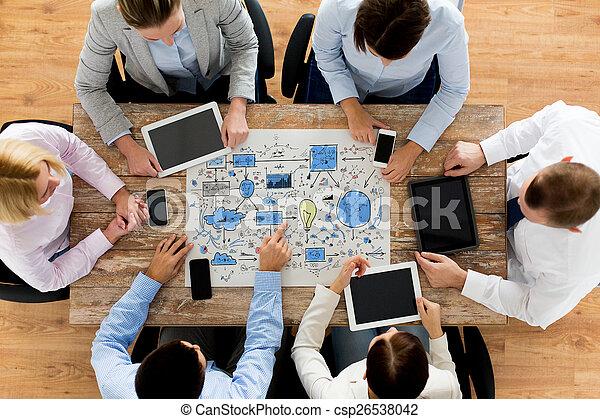 案, ミーティング, ビジネスオフィス, チーム - csp26538042