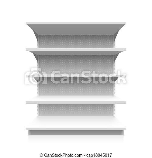 棚, 空, スーパーマーケット - csp18045017