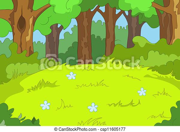森林, 林間空地 - csp11605177