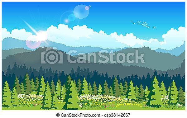森林, 絵のよう - csp38142667