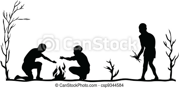 森, 暖炉 - csp9344584
