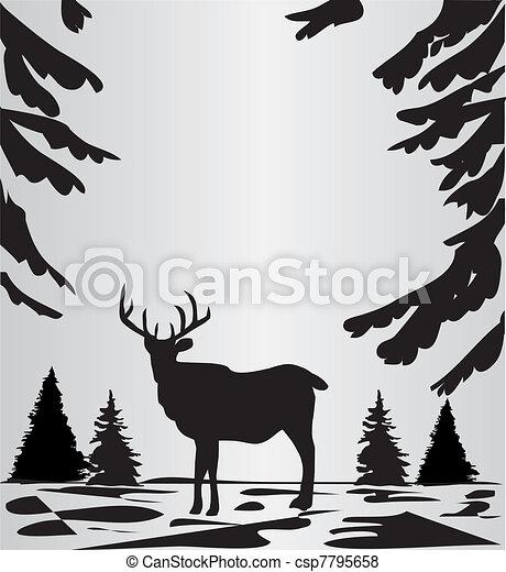 森, 鹿 - csp7795658