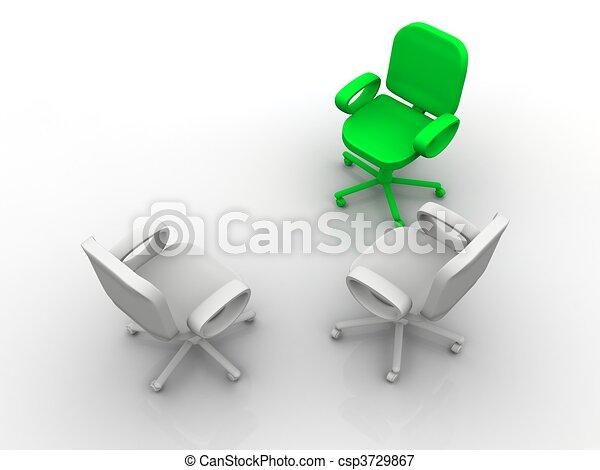 椅子, オフィス - csp3729867