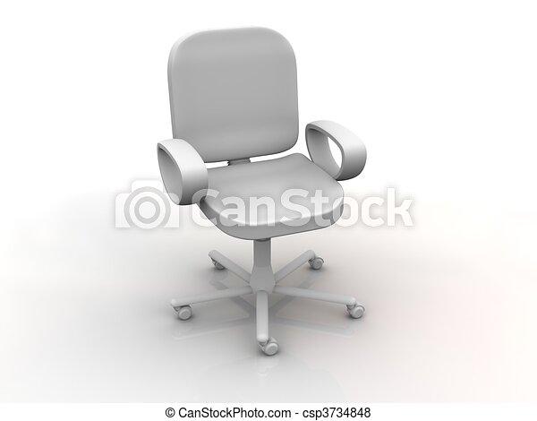 椅子, オフィス - csp3734848