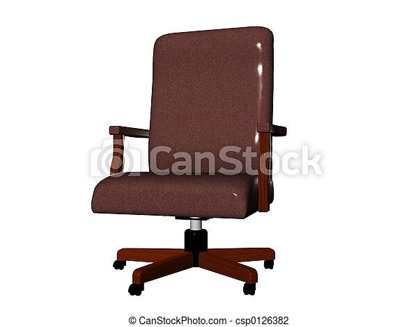 椅子, オフィス - csp0126382
