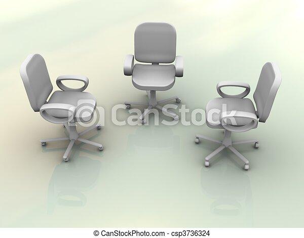 椅子, オフィス - csp3736324
