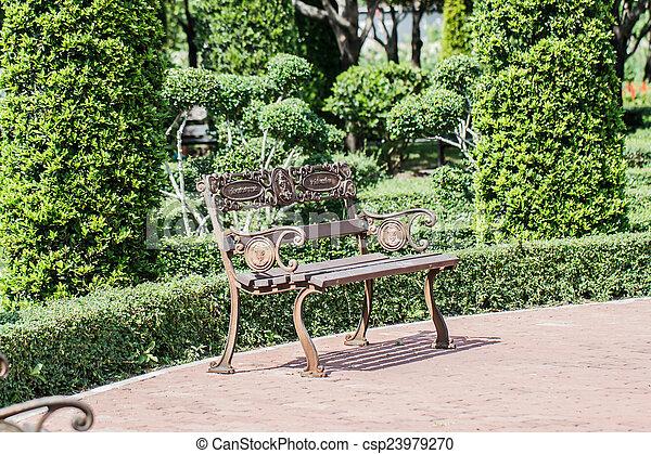 椅子, 庭 - csp23979270