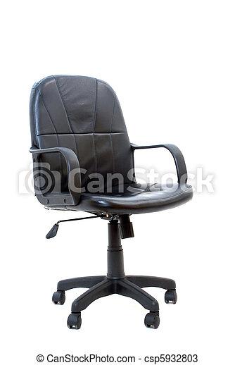 椅子, 黒, 隔離された, オフィス - csp5932803
