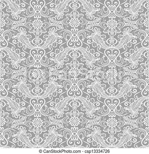 植物群的模式, seamless, 带子 - csp13334726