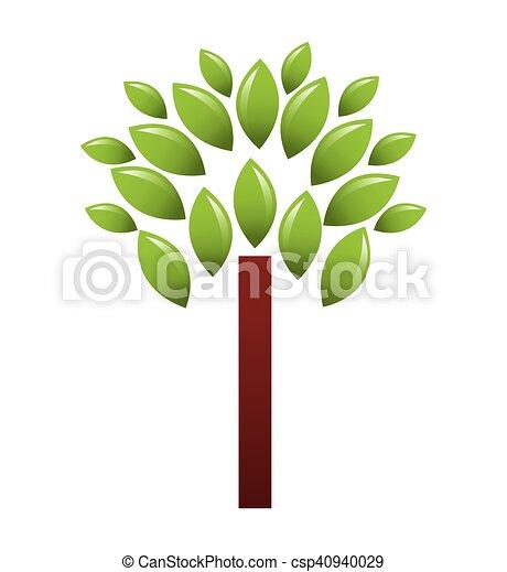 植物, エコロジー, 木, シンボル - csp40940029
