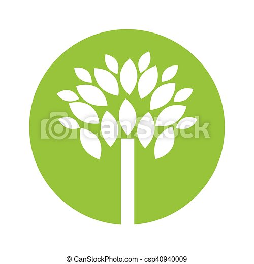 植物, エコロジー, 木, シンボル - csp40940009