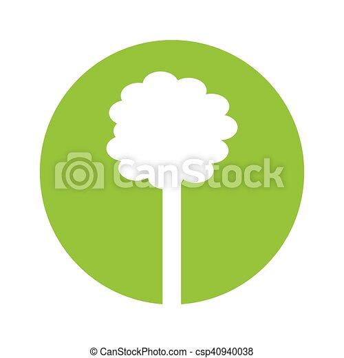 植物, エコロジー, 木, シンボル - csp40940038