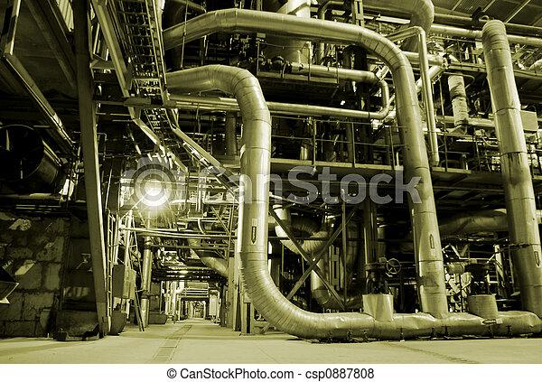植物, 中, パイプ, エネルギー - csp0887808
