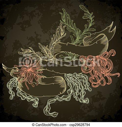 植物, 海洋, 海草, コレクション - csp29628794