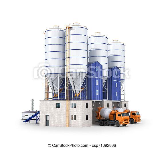 植物, 生産, concrete., イラスト, 3d - csp71092866