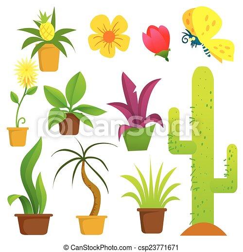 植物, 罐 - csp23771671