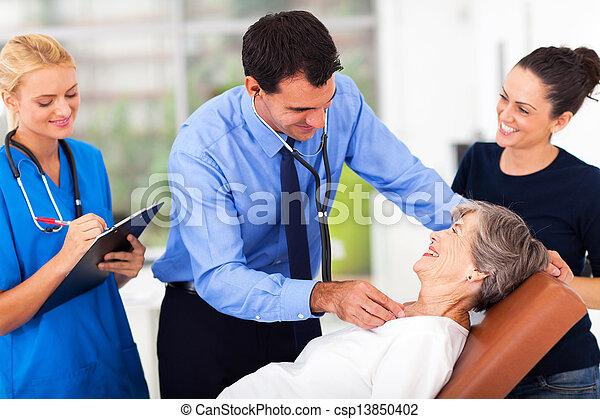 検査, 医学, 患者, シニア, 医者 - csp13850402