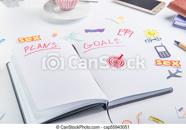 業績, 概念, 仕事, pushpin, アイコン, 個人的, 毎日, 行動, life., 計画, ゴール, 矢, ターゲット, アイコン, 組織者, place., 他, 計画 - csp55943051
