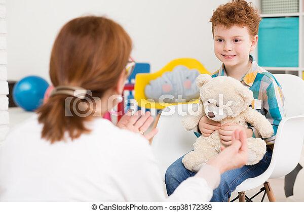楽しみ, セッション, 療法, 持つこと, 子供 - csp38172389