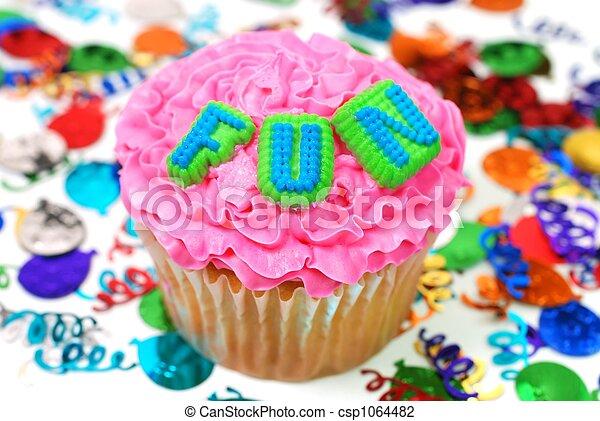 楽しみ, 祝福, -, cupcake - csp1064482
