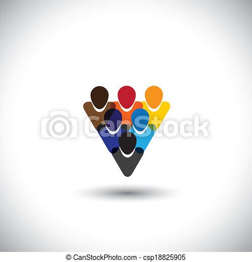 概念, オフィスの人々, 共同体, 完全性, ネットワーク, &, -, 媒体, また, 統一, vector., インターネット, カラフルである, 提示, オンラインで, 従業員, 表す, グラフィック, スタッフ, これ, ∥など∥, 共同体, 社会 - csp18825905