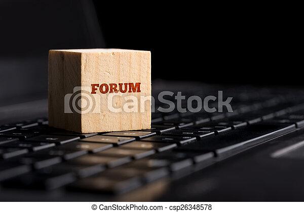 概念, コミュニケーション, サポート, フォーラム, オンラインで - csp26348578
