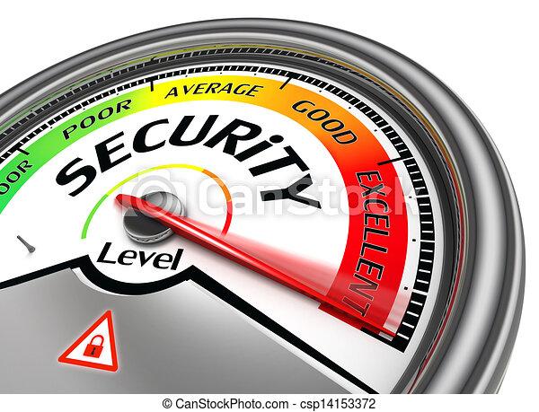 概念, セキュリティー, メートル, レベル - csp14153372
