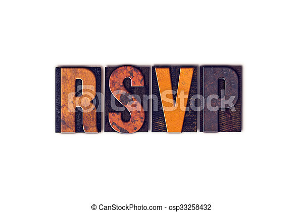 概念, タイプ, 隔離された, 凸版印刷, rsvp - csp33258432