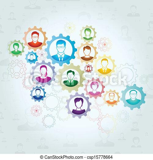 概念, チームワーク - csp15778664