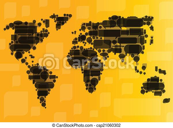 概念, ビジネス コミュニケーション, globalization, ベクトル, backg - csp21060302