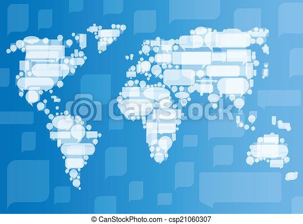 概念, ビジネス コミュニケーション, globalization, ベクトル, backg - csp21060307