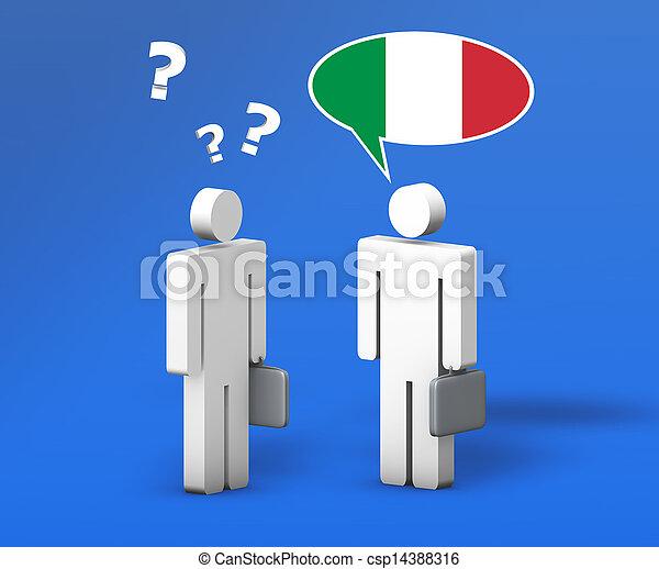 概念, ビジネス, チャット, イタリア語 - csp14388316