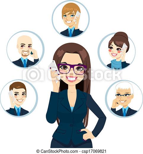 概念, ビジネス, 接触 - csp17069821