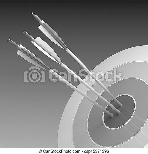 概念, 中心, 成功, -, 矢, ヒッティング, ビジネス, ターゲット - csp15371396