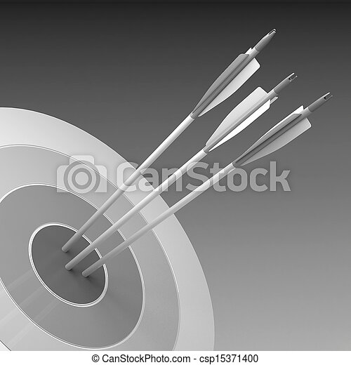 概念, 中心, 成功, -, 矢, ヒッティング, ビジネス, ターゲット - csp15371400