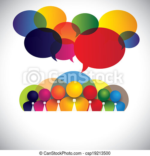 概念, 人々, 多様, メンバー, 人種的, スタッフ, 管理, &, 媒体, -, また, 板, vector., 白, ショー, ネットワーク, カラフルである, 会社, 従業員, 会議, つば, multi, グラフィック, 社会, 経営者 - csp19213500