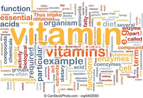概念, 健康, ビタミン, 背景 - csp6402583