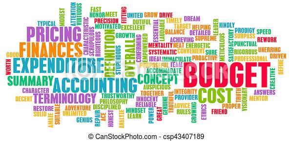 概念, 単語, 予算, 雲 - csp43407189