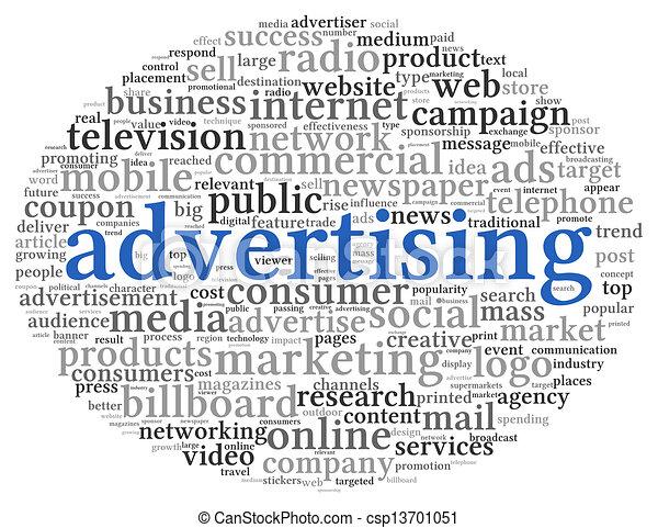 概念, 単語, 広告, 雲, タグ - csp13701051