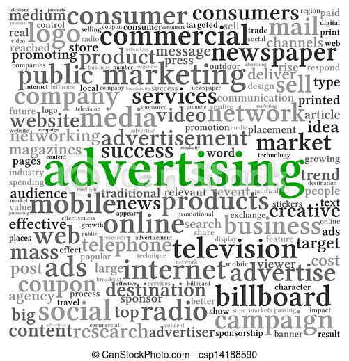 概念, 単語, 広告, 雲, タグ - csp14188590