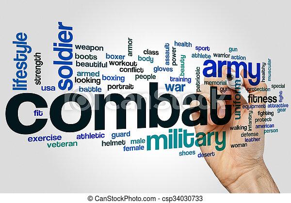 概念, 単語, 戦闘, 雲 - csp34030733